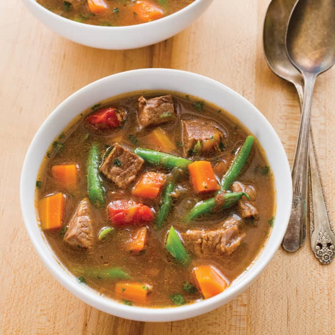 Slow-Cooker Beef and Garden Vegetable Soup