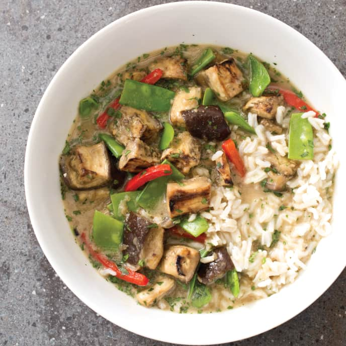 Slow-Cooker Thai Eggplant Curry