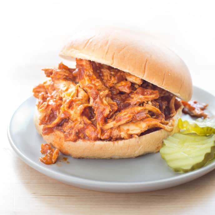 Slow-Cooker Sweet and Tangy Pulled Chicken