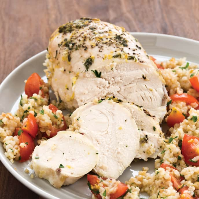 Slow-Cooker Greek-Style Chicken with Warm Tabbouleh