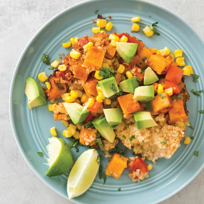 Slow-Cooker Quinoa, Sweet Potato, and Corn Casserole