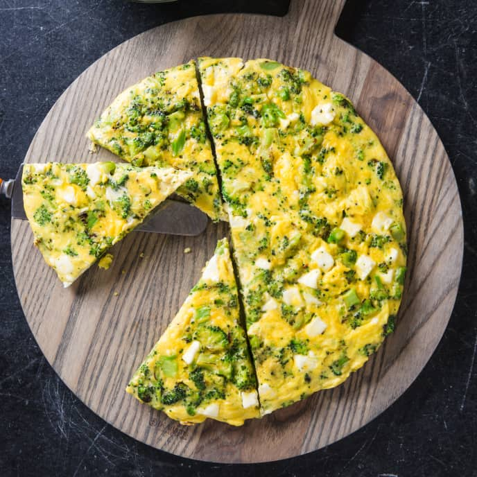 Broccoli and Feta Frittata for Two
