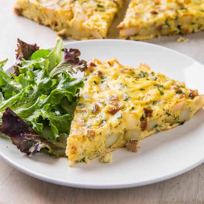 Chorizo and Potato Frittata for Two