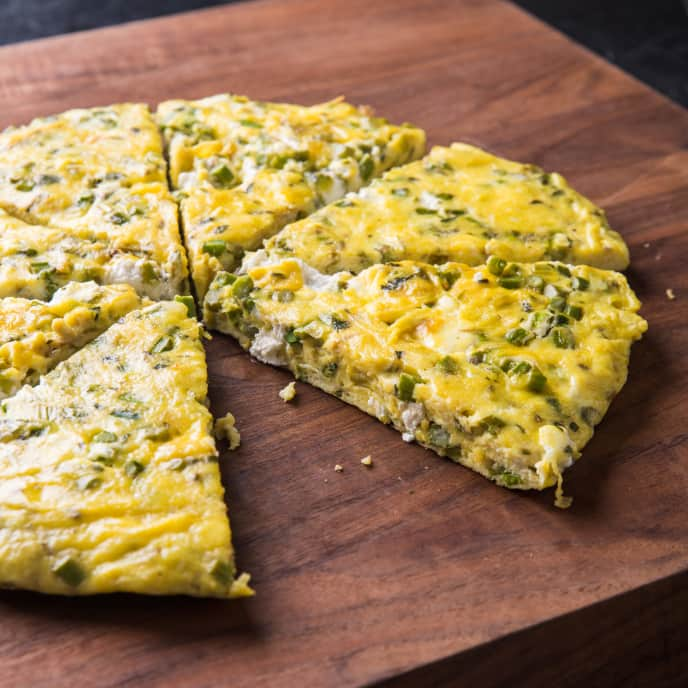 Asparagus and Goat Cheese Frittata for Two