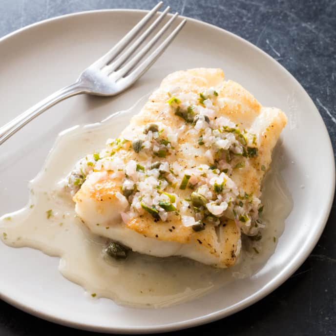 White Wine-Shallot Sauce with Lemon and Capers