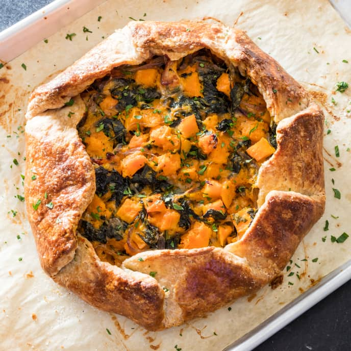 Butternut Squash Galette with Gruyère