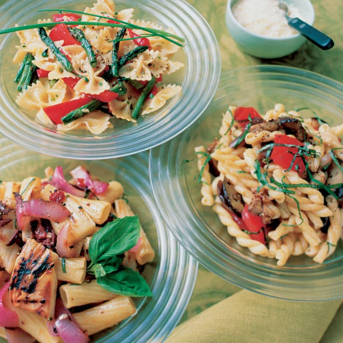 Pasta Salad with Eggplant, Tomatoes, and Basil