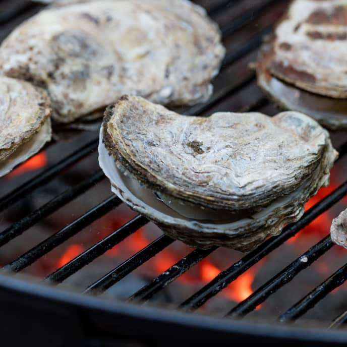 Gas-Grilled Clams, Mussels, or Oysters