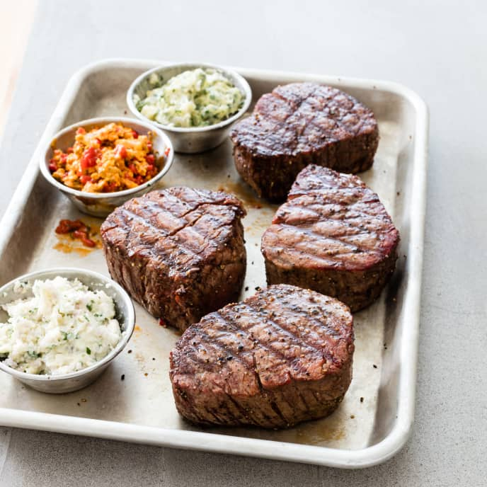 Charcoal-Grilled Filets Mignons