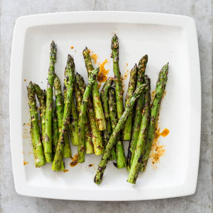 Grilled Asparagus with Orange-Thyme Butter