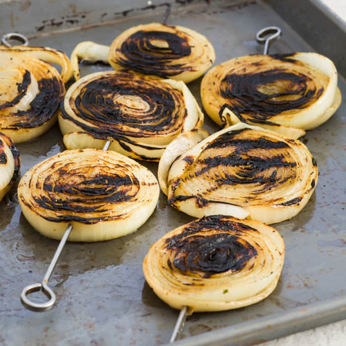Gas-Grilled Onions