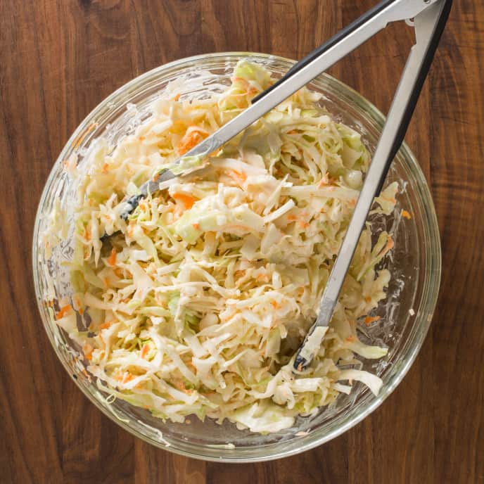 Creamy Buttermilk Coleslaw with Lemon and Herbs