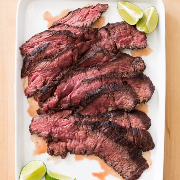 Gas-Grilled Sirloin Steak Tips