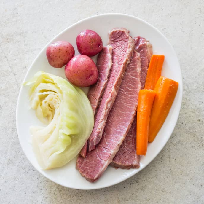 Home-Corned Beef with Vegetables