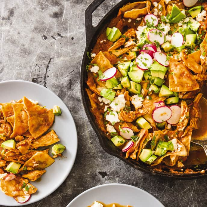 Cast Iron Chicken Chilaquiles