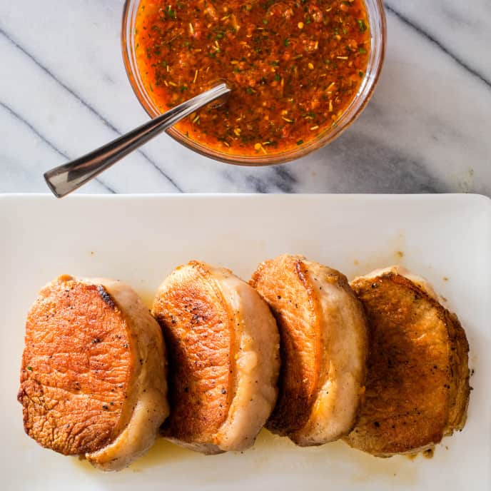 Pan-Seared Thick-Cut Boneless Pork Chops