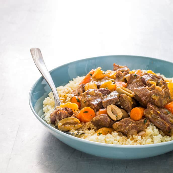 Lamb Tagine with Dried Apricots and Olives