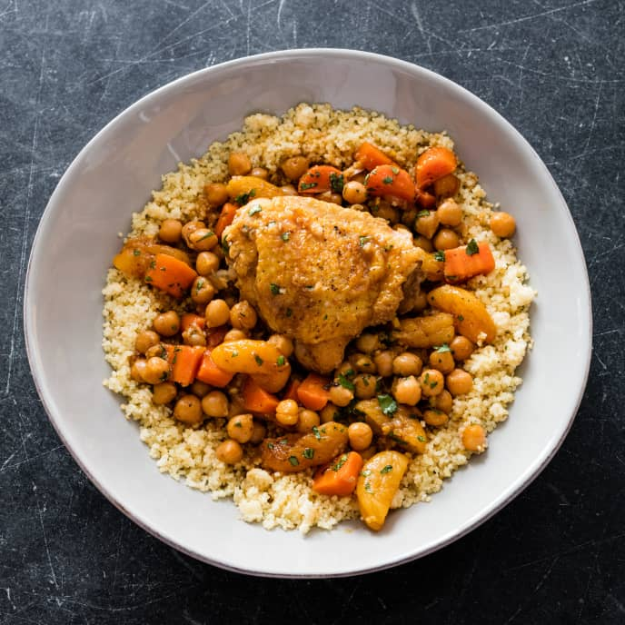 Moroccan Chicken with Chickpeas and Apricots