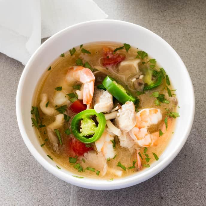 Spicy Thai-Style Shrimp Soup