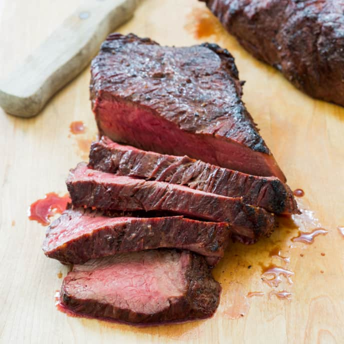 Gas-Grilled Strip or Rib Steaks
