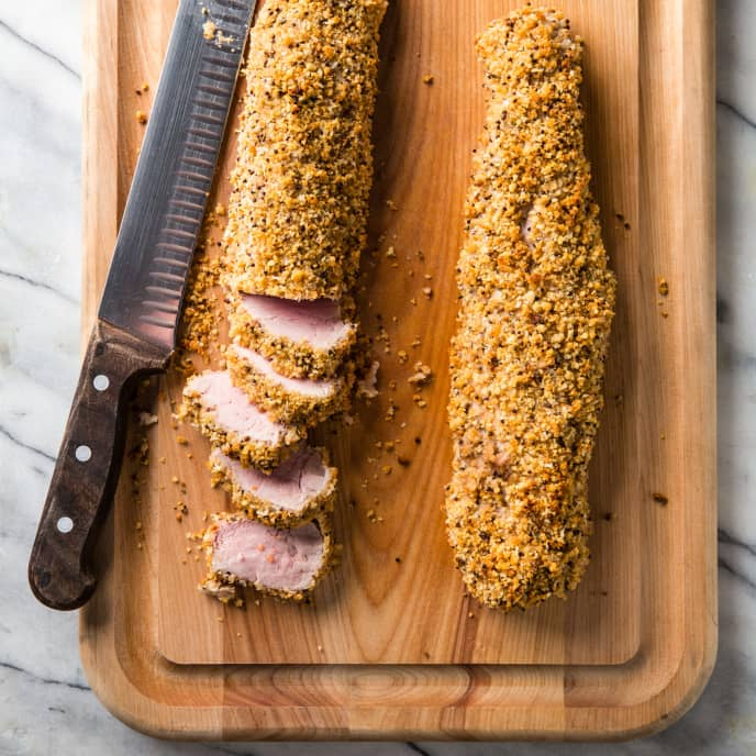 Crumb-Crusted Pork Tenderloin