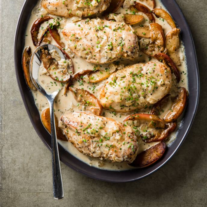 Chicken Fricassee with Apples