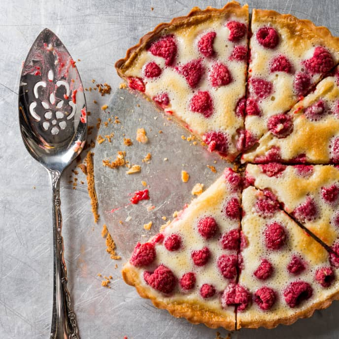 Baked Raspberry Tart