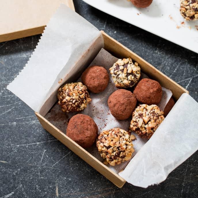 Chocolate Chai Masala Truffles