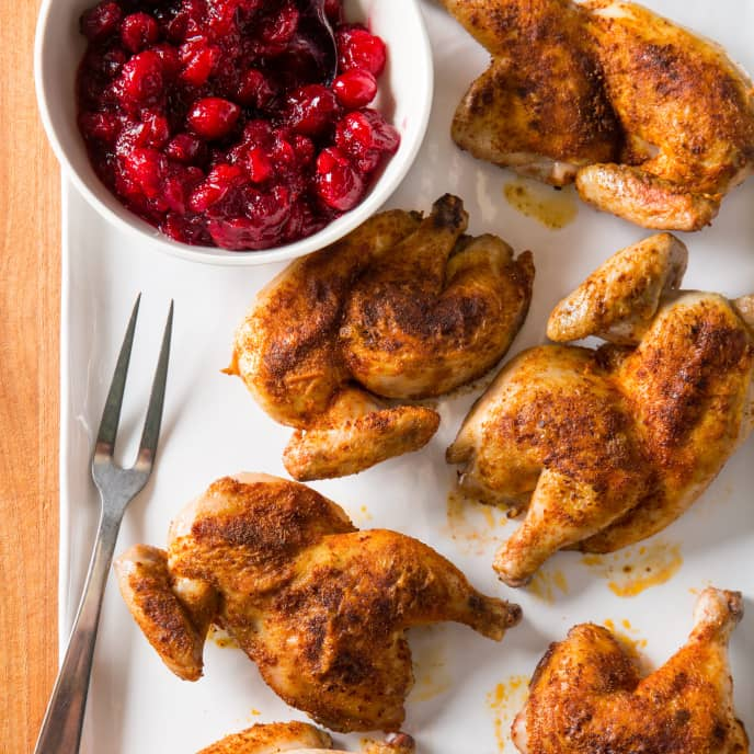 Cumin-Coriander Roasted Cornish Game Hens