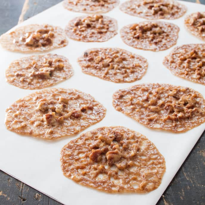 Spiced Walnut Lace Cookies