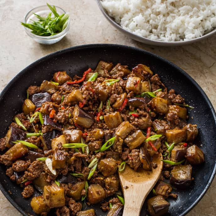 Chinese-Style Beef and Eggplant