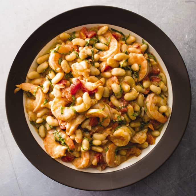 Tuscan Shrimp and Beans