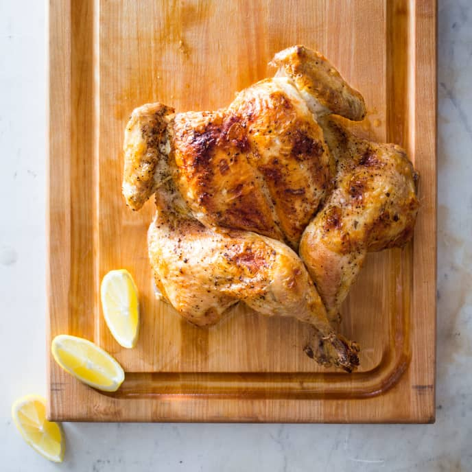 One-Hour Broiled Chicken and Pan Sauce