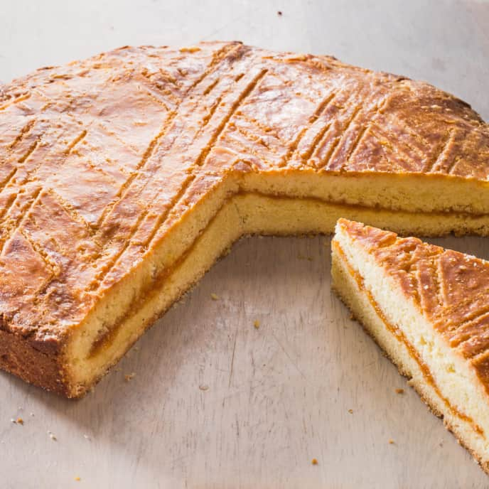 Gâteau Breton with Apricot Filling