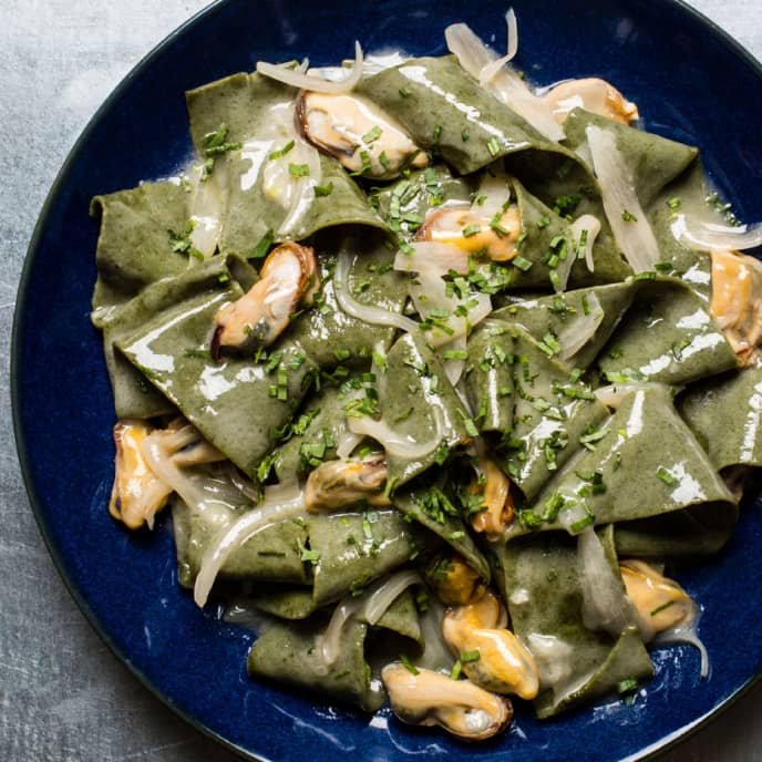 Nori Pappardelle with Mussels and Butter