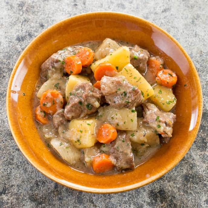 Irish Stew with Carrots and Turnips