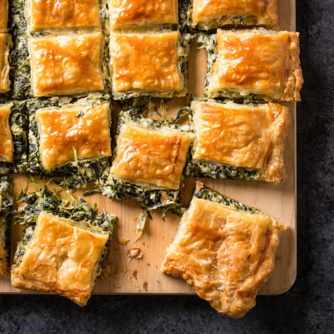 Spinach Pie for a Crowd
