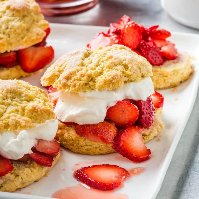 Strawberry Cornmeal Shortcakes