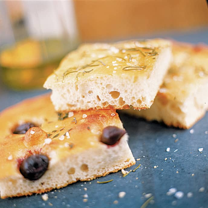 Focaccia with Black Olives and Thyme