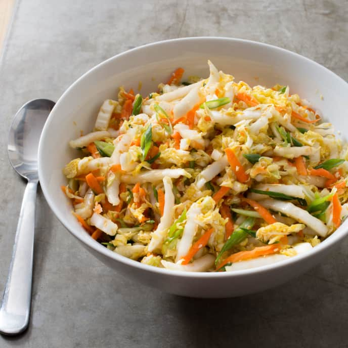 Napa Cabbage Slaw with Carrots and Sesame