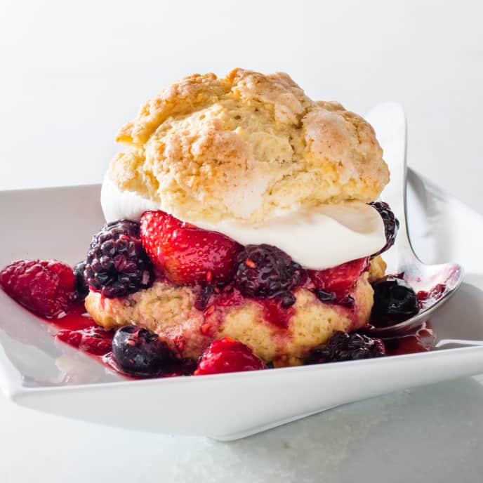 Brown-Sugar Berry Shortcakes