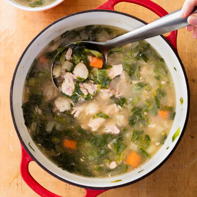 Italian Chicken Soup with Parmesan Dumplings