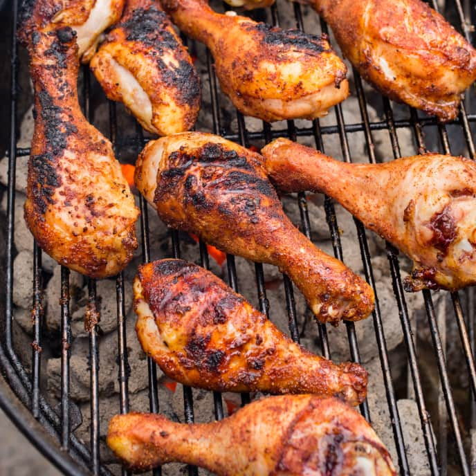 Grilled Spice-Rubbed Chicken Drumsticks