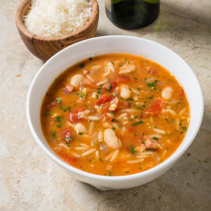 Italian Pasta and Bean Soup with Orange and Fennel
