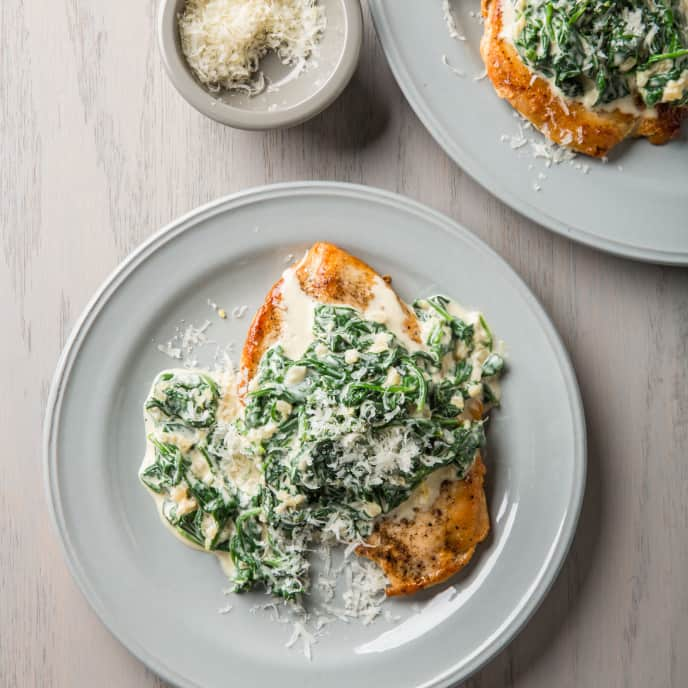 Chicken Florentine for Two