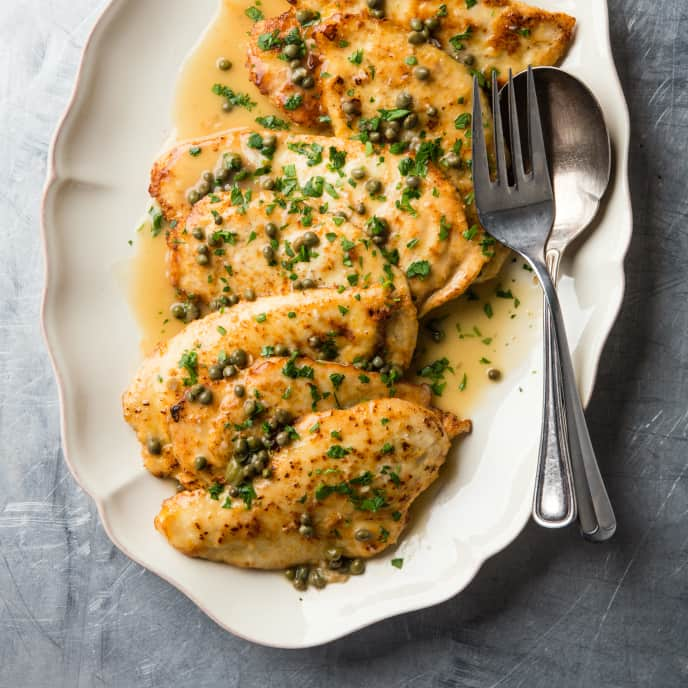 Chicken Francese with ­Lemon-Caper Sauce