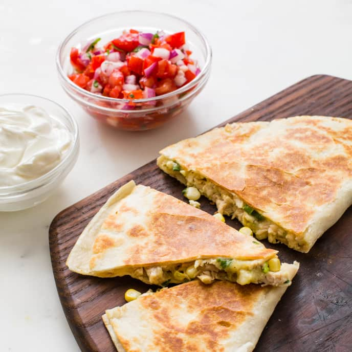 Jalapeño Chicken Quesadillas