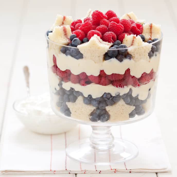 Stars and Stripes Berry Trifle