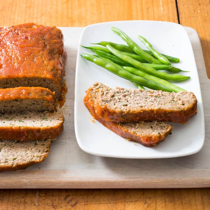 Turkey Meatloaf with Apricot-Mustard Glaze