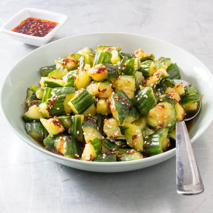 Smashed Cucumbers (Pai Huang Gua)